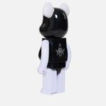 Игрушка Medicom Toy Bearbrick Freemasonry x Fragmentdesign Black 1000% фото- 1