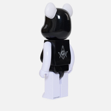 Игрушка Medicom Toy Bearbrick Freemasonry x Fragmentdesign Black 1000% фото- 1