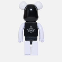 Игрушка Medicom Toy Bearbrick Freemasonry x Fragmentdesign Black 1000% фото- 2