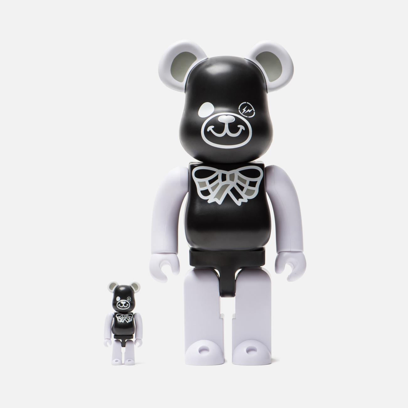 Игрушка Medicom Toy Bearbrick Freemasonry x Fragmentdesign Black Set 100% & 400%