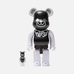 Игрушка Medicom Toy Bearbrick Freemasonry x Fragmentdesign Black Set 100% & 400% фото- 0