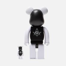 Игрушка Medicom Toy Bearbrick Freemasonry x Fragmentdesign Black Set 100% & 400% фото- 2