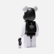 Игрушка Medicom Toy Bearbrick Freemasonry x Fragmentdesign Black Set 100% & 400% фото- 1