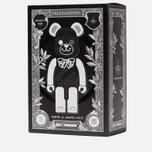 Игрушка Medicom Toy Bearbrick Freemasonry x Fragmentdesign Black Set 100% & 400% фото- 3