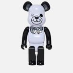 Игрушка Medicom Toy Bearbrick Freemasonry x Fragmentdesign White 1000% фото- 0