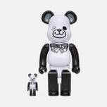 Игрушка Medicom Toy Bearbrick Freemasonry x Fragmentdesign White Set 100% & 400% фото- 0