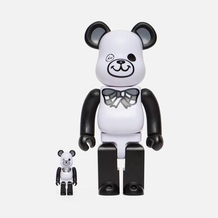 Игрушка Medicom Toy Bearbrick Freemasonry x Fragmentdesign White Set 100% & 400%