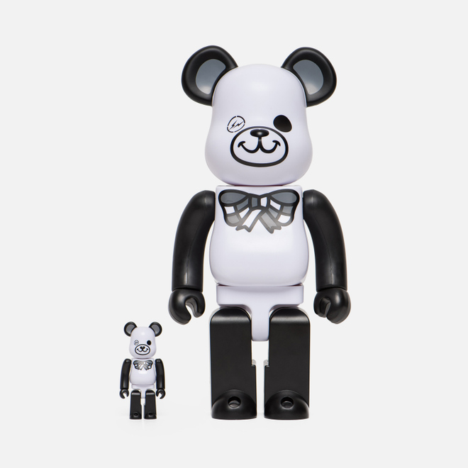 Игрушка Medicom Toy Bearbrick Freemasonry x Fragmentdesign White Set 100% & 400%