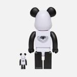 Игрушка Medicom Toy Bearbrick Freemasonry x Fragmentdesign White Set 100% & 400% фото- 2
