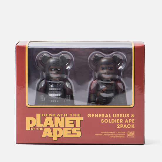 Игрушка Medicom Toy Bearbrick Ursus & Soldier Ape 2-Pack 100%