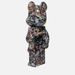 Игрушка Medicom Toy Bearbrick Jackson Pollock Ver. 2.0 1000% фото- 1