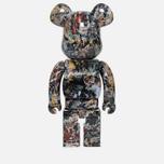 Игрушка Medicom Toy Bearbrick Jackson Pollock Ver. 2.0 1000% фото- 2