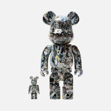 Игрушка Medicom Toy Bearbrick Jackson Pollock Ver. 2.0 Set 100% & 400%