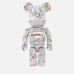 Игрушка Medicom Toy Bearbrick Jean-Michel Basquiat Ver. 2 1000% фото- 0
