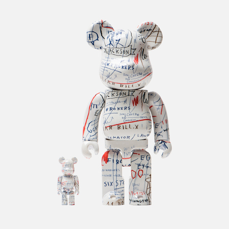 Игрушка Medicom Toy Bearbrick Jean-Michel Basquiat Ver. 2 Set 100% & 400%