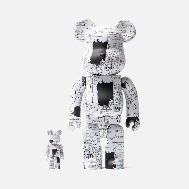 Игрушка Medicom Toy Bearbrick Jean-Michel Basquiat Ver. 3 100% & 400%