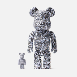 Игрушка Medicom Toy Bearbrick Keith Haring Ver. 4 100% & 400%