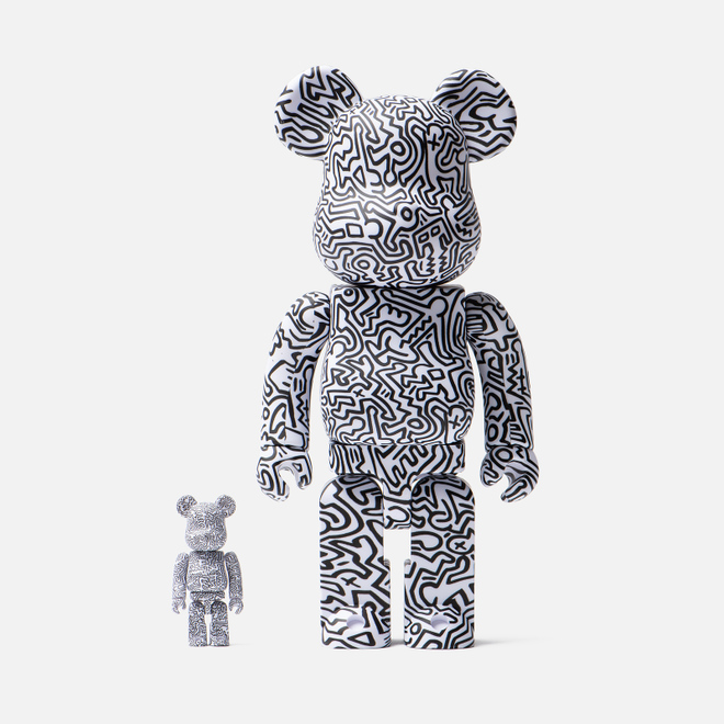 Игрушка Medicom Toy Bearbrick Keith Haring Ver. 4 100% & 400%