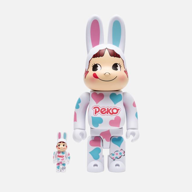 Игрушка Medicom Toy Bearbrick Kigurumi Pekochan Heart 100% & 400%