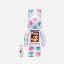 Игрушка Medicom Toy Bearbrick Kigurumi Pekochan Heart 100% & 400% фото- 2