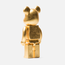 Игрушка Medicom Toy Bearbrick Kutani Kanazawa Gold Leaf 400% фото- 1