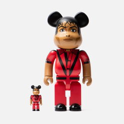 Игрушка Medicom Toy Bearbrick M Jackson Red Jacket 100% & 400%