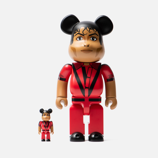 Игрушка Medicom Toy Bearbrick Michael Jackson Red Jacket 100% & 400%