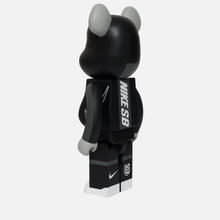Игрушка Medicom Toy Bearbrick Nike SB Black 1000% фото- 1