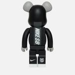 Игрушка Medicom Toy Bearbrick Nike SB Black 1000% фото- 2
