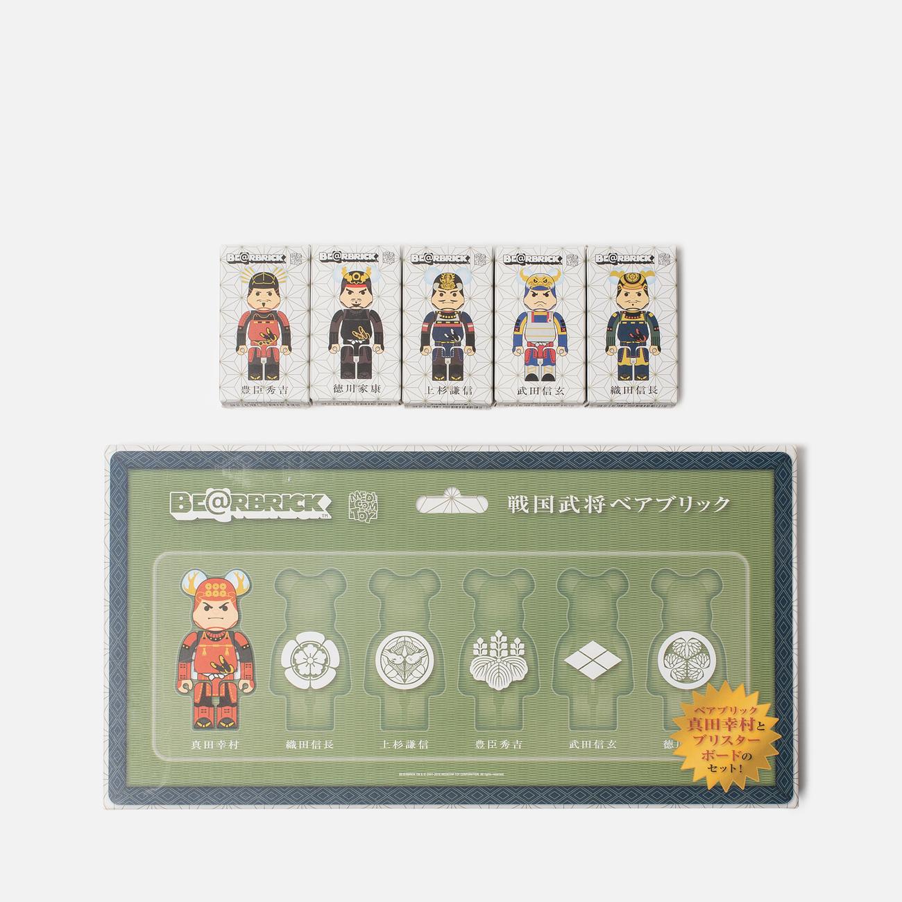 Набор игрушек Medicom Toy Bearbrick Sengoku Warlords 6pcs 100%