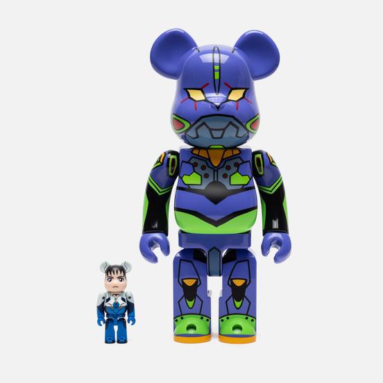 Игрушка Medicom Toy Bearbrick Shinji Ikari 100% & Evangelion Shogo-ki 400%