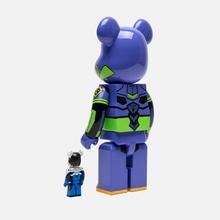 Игрушка Medicom Toy Bearbrick Shinji Ikari 100% & Evangelion Shogo-ki 400% фото- 1