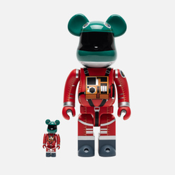 Игрушка Medicom Toy Bearbrick Space Suit Green Helmet & Orange 100% & 400%