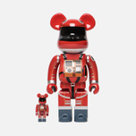 Игрушка Medicom Toy Bearbrick Space Suit Orange Set Version 100% & 400% фото- 0
