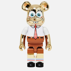 Игрушка Medicom Toy Bearbrick Sponge Bob Gold Chrome 1000%