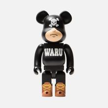Игрушка Medicom Toy Bearbrick Tokyo Tribe Waru Black 400% фото- 0