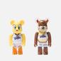 Игрушка Medicom Toy Bearbrick Tweety & Tasmanian Devil 2-Pack 100% фото - 0