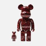 Игрушка Medicom Toy Bearbrick x Mika Ninagawa Leather Rose 100% & 400% фото- 0