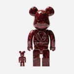 Игрушка Medicom Toy Bearbrick x Mika Ninagawa Leather Rose 100% & 400% фото- 2