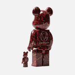 Игрушка Medicom Toy Bearbrick x Mika Ninagawa Leather Rose 100% & 400% фото- 1