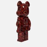 Игрушка Medicom Toy Bearbrick x Mika Ninagawa Leather Rose 1000% фото- 1