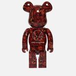 Игрушка Medicom Toy Bearbrick x Mika Ninagawa Leather Rose 1000% фото- 2