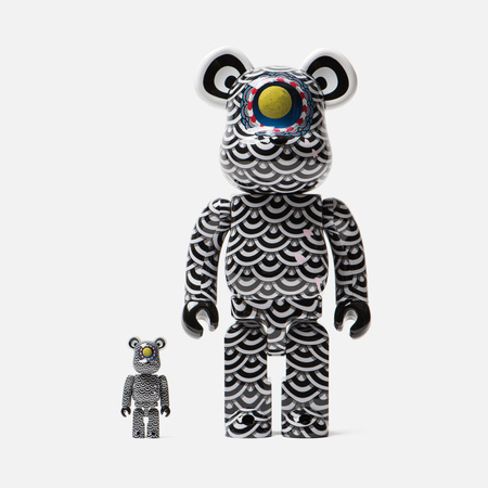 Игрушка Medicom Toy Bearbrick Yasuto Sasada x Ground Y 100% & 400%