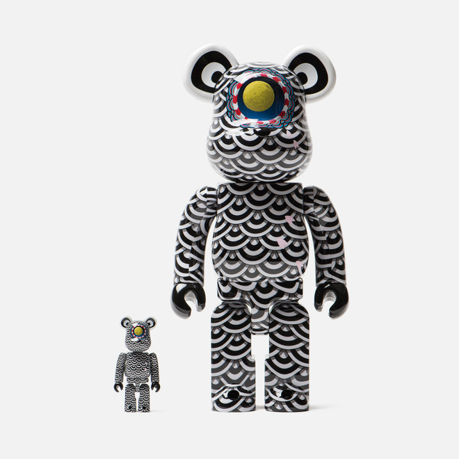 Игрушка Medicom Toy Bearbrick Yasuto Sasada x Ground Y 100% & 400%