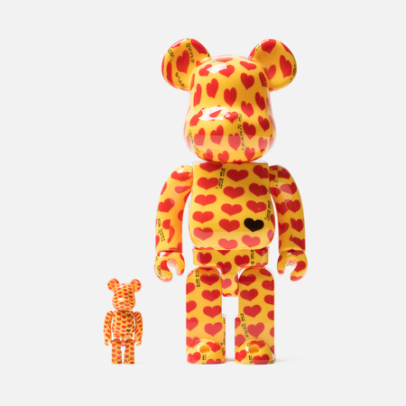 Игрушка Medicom Toy Bearbrick Yellow Heart 100% & 400%