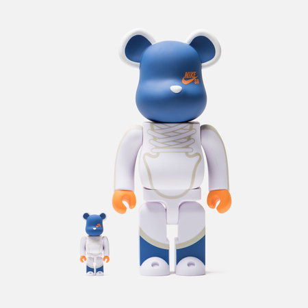 Игрушка Medicom Toy Bearbrick Nike SB Set White 100% & 400%