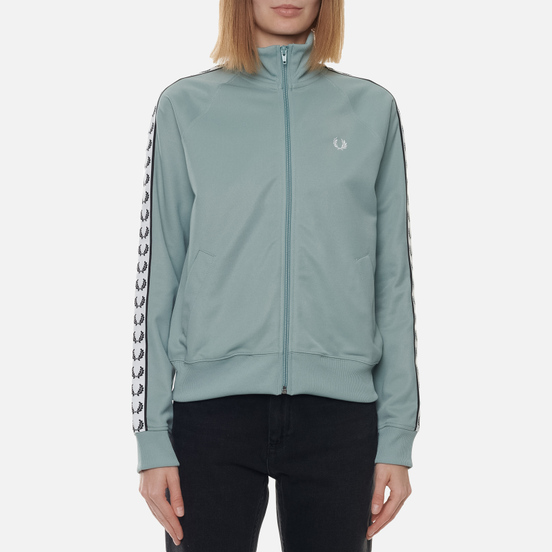 Женская олимпийка Fred Perry Sports Authentic Taped Track Silver Blue