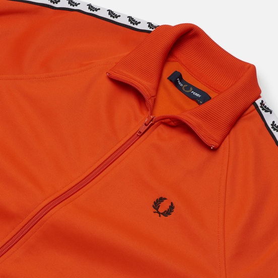 Женская олимпийка Fred Perry Sports Authentic Taped Track Tangerine Tango