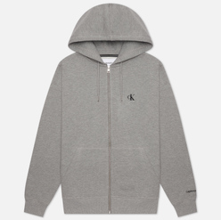 Мужская толстовка Calvin Klein Jeans Essential Zip Hoodie Mid Grey Heather