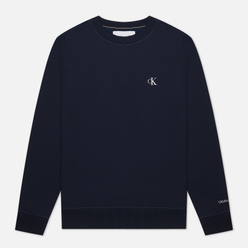 Мужская толстовка Calvin Klein Jeans Embroidered Logo Night Sky/White